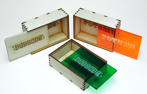laser cut slide boxes